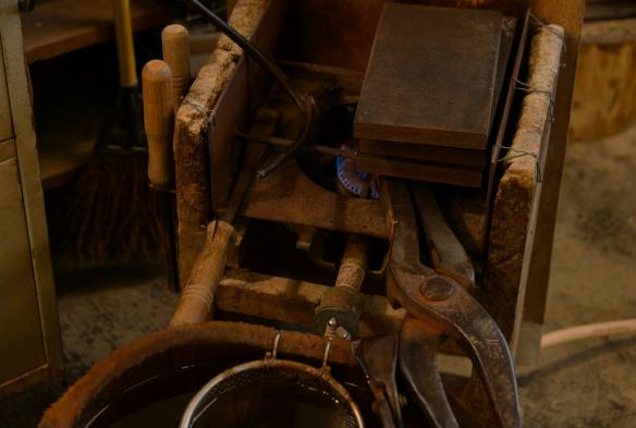 工具は江戸時代のものとほとんど変わらない